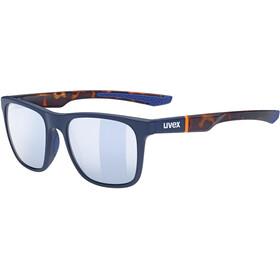 UVEX LGL 42 Bril, blue matt/havanna/litemirror silver